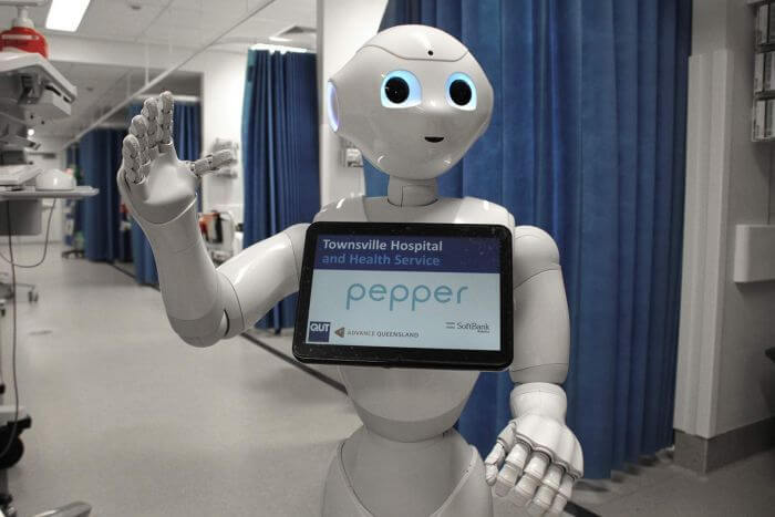 Pepper the robot assisting nurses at the Townsvile Hospital